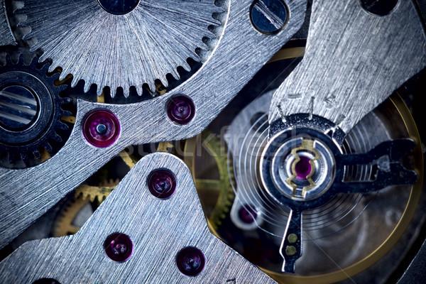 Macro Mechanical Gear Background / Clockwork Stock photo © Taiga
