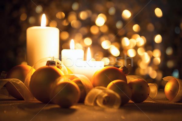 ночь Рождества украшения магия bokeh Сток-фото © Taiga