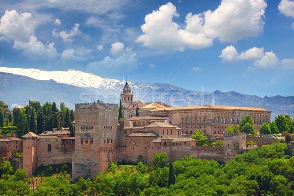 View of the famous Ancient arabic fortress  Alhambra, Granada, S Stock photo © Taiga
