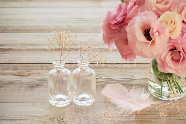 Vintage ancora vita fiori vaso rosa due Foto d'archivio © Taiga