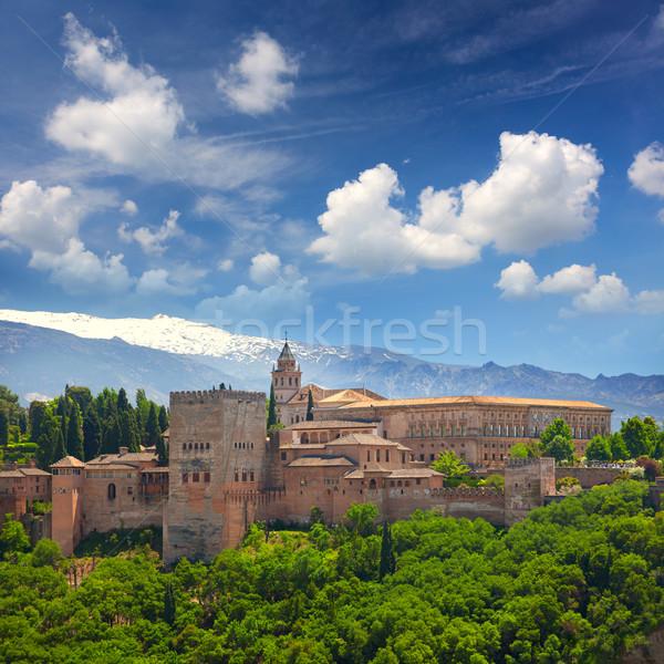европейский путешествия ориентир арабский крепость Альгамбра Сток-фото © Taiga