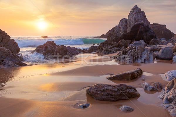 幻想的な ビッグ 岩 海 波 ストックフォト © Taiga