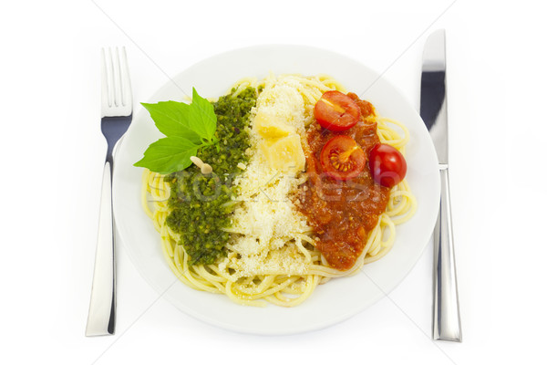 商業照片: 意大利國旗 · 麵食 · 綠色 · 白 · 巴馬