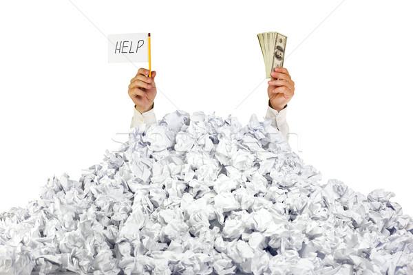 Foto stock: Ajudar · me · pessoa · documentos · assinar