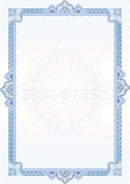 Stock photo: Classic guilloche border for diploma or certificate / vector/ A4
