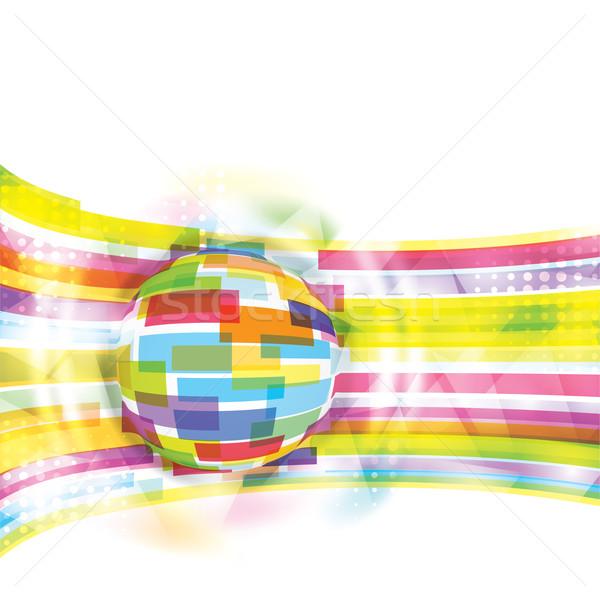 Modern global eps10 Internet ışık dizayn Stok fotoğraf © Taiga