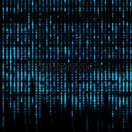 青 行列 抽象的な バイナリコード 画面 テクスチャ ストックフォト © Taiga