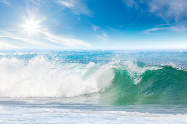 Летние каникулы морем красивой морской пейзаж волна Blue Sky Сток-фото © Taiga