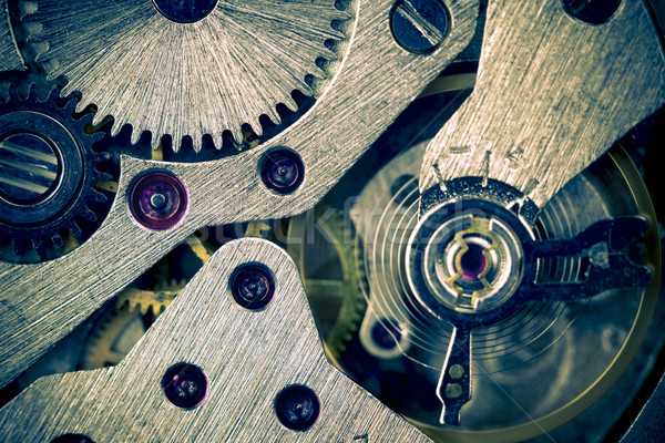 Macro Mechanical Gear Background / split toting Stock photo © Taiga