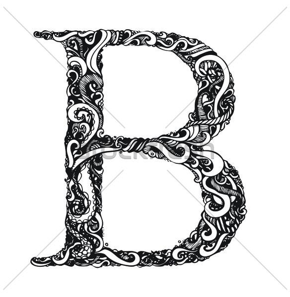 Capital Letter B - Elegant Vintage Swirly Style Stock photo © Taiga