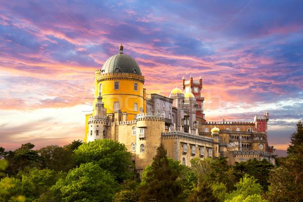 Fairy Palace against sunset sky -  Sintra, Portugal, Europe Stock photo © Taiga