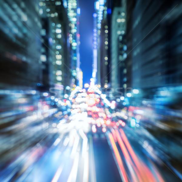 Abstract Background of  Big city night traffic defocused Stock photo © Taiga