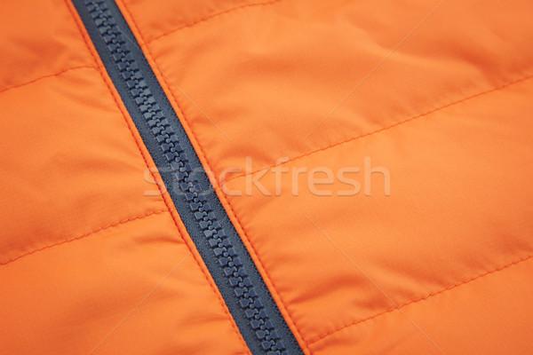 Pomarańczowy wodoodporny włókienniczych czarny tle tkaniny Zdjęcia stock © Taiga