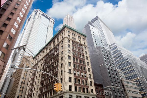 Wall Street wolkenkrabbers Manhattan New York City USA business Stockfoto © Taiga