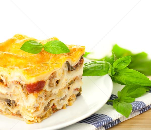 Italiana lasagna fresche basilico bianco Foto d'archivio © Taiga
