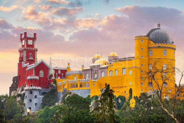 Pena National Palace, famous landmark, Portugal Stock photo © Taiga