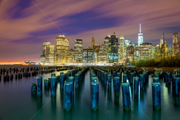 Famous NYC view at night with big city lights - New York City, U Stock photo © Taiga