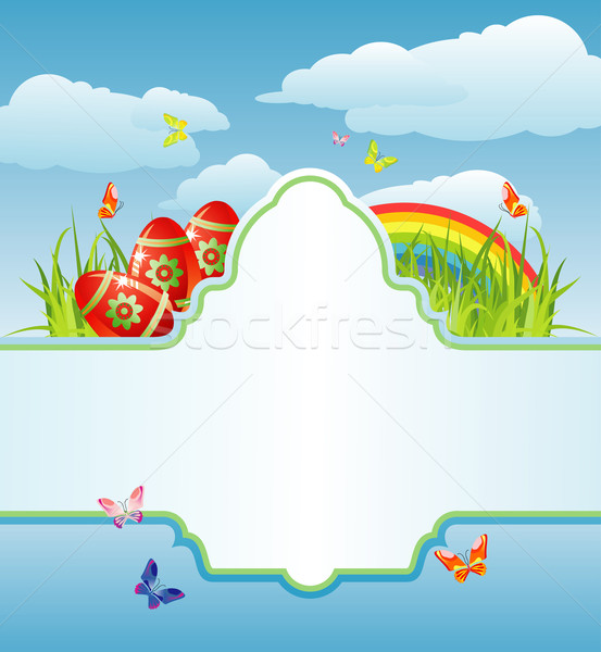 easter frame for your text / cmyk / vector Stock photo © Taiga