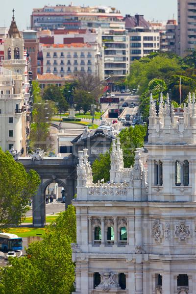 マドリード 有名な ゲート スペイン 通り ストックフォト © Taiga