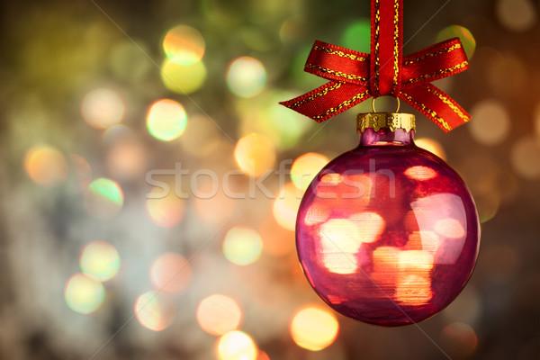 Navidad chuchería hermosa magia bokeh nieve Foto stock © Taiga