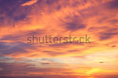 Fantastik gerçek gün batımı gökyüzü renkli doğal Stok fotoğraf © Taiga