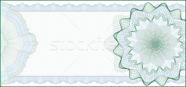 Stock photo: Elegant Guilloche Background for Gift Certificate, Coupon or Ban
