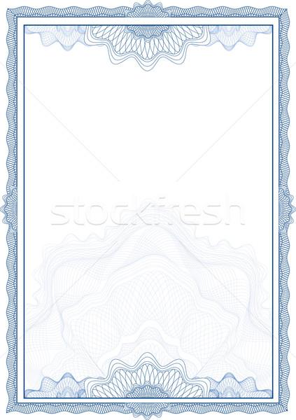 Stockfoto: Klassiek · grens · diploma · certificaat · business · papier