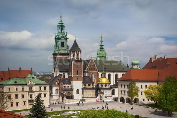 Krakow Wawel yard roof view Stock photo © Taiga