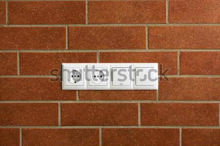 Stock fotó: Erő · téglafal · vízszintes · fotó · ház · épület