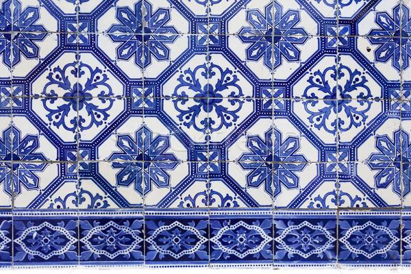 Hecho a mano tradicional azulejo Lisboa Europa detalle Foto stock © Taiga