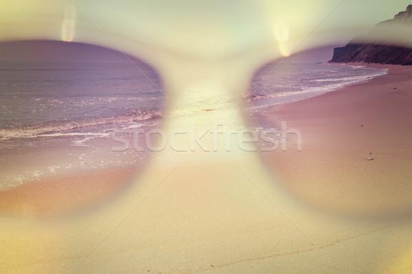 look to the sea through the sunglasses - summertime concept, vin Stock photo © Taiga
