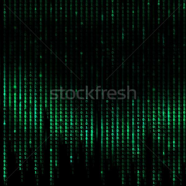 Számítógépek bináris kód digitális absztrakt zöld internet Stock fotó © Taiga