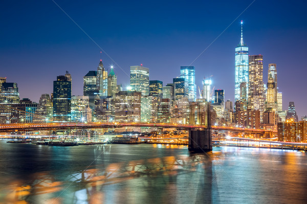 Aerial view of  Brooklyn Bridge and  Manhattan skyline, NYC Stock photo © Taiga