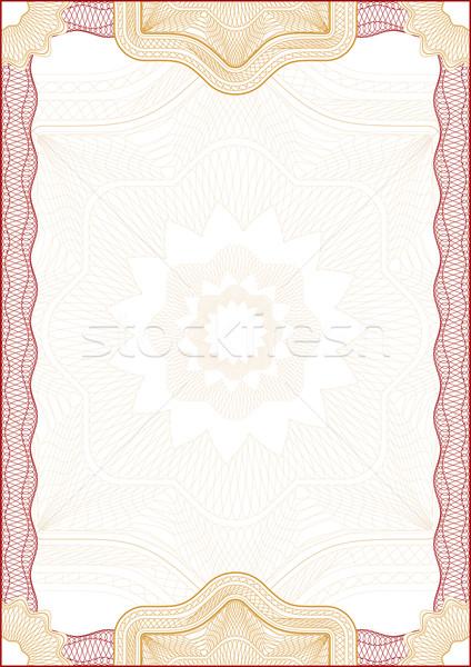 Klassiek grens diploma certificaat abstract frame Stockfoto © Taiga