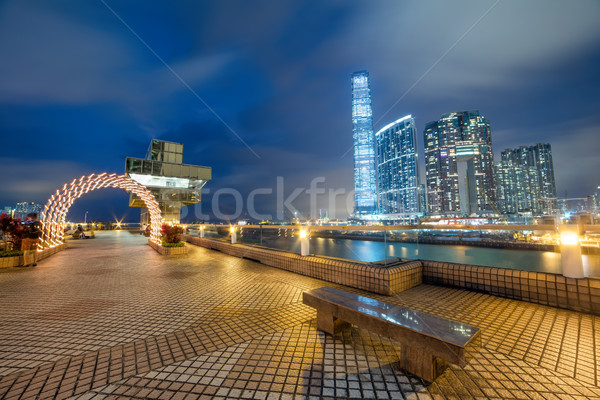 Night view of Hong Kong illumination,  Ferry Terminal observatio Stock photo © Taiga