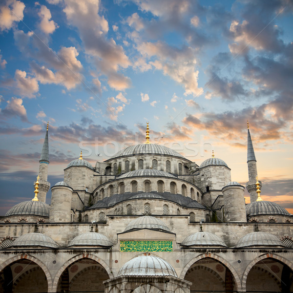 Blue Mosque from courtyard against amazing sky, Istanbul,  Stock photo © Taiga