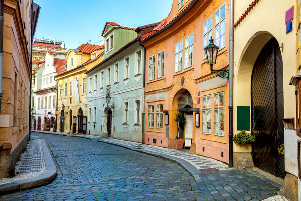 Old Street in Prague at the morning, downtown Stock photo © Taiga