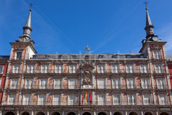 Architecture at Plaza Mayor  in Madrid, Spain /  Casa de la Pana Stock photo © Taiga