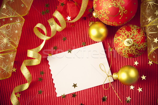 Christmas kaarten exemplaar ruimte papier decoraties ontwerp Stockfoto © Taiga