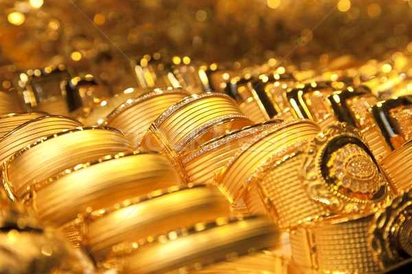 gold jewelry background / soft selective focus Stock photo © Taiga