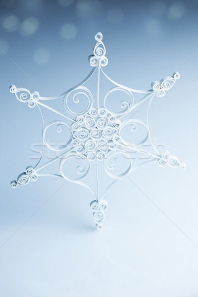 Beautiful white handmade snowflake Stock photo © Taiga