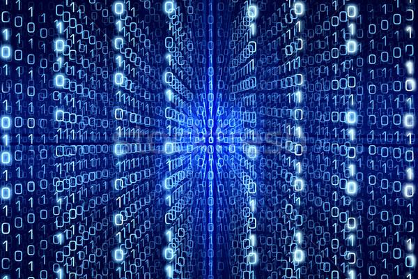 Mavi matris soyut dijital Internet ışık Stok fotoğraf © Taiga