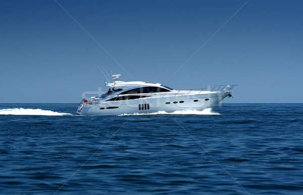 Luxe jacht sport zomer Blauw reizen Stockfoto © Taiga