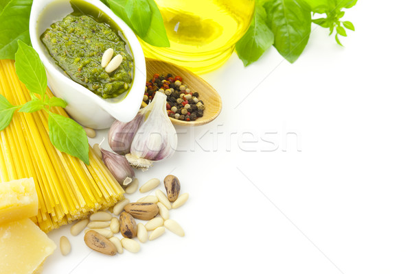 Ingredients for Italian cooking / frame composition / isolated o Stock photo © Taiga