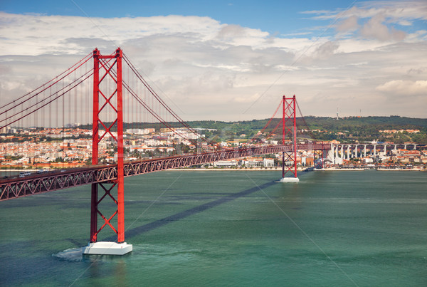 25th of April Suspension Bridge in Lisbon, Portugal, Eutope Stock photo © Taiga
