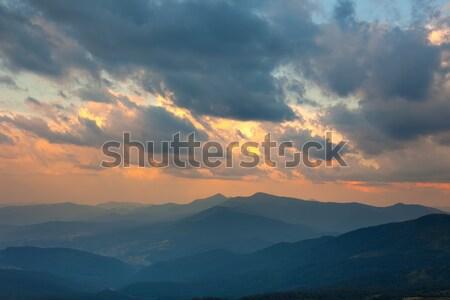 Majestic Sundown Sky and Mountains Range Stock photo © Taiga
