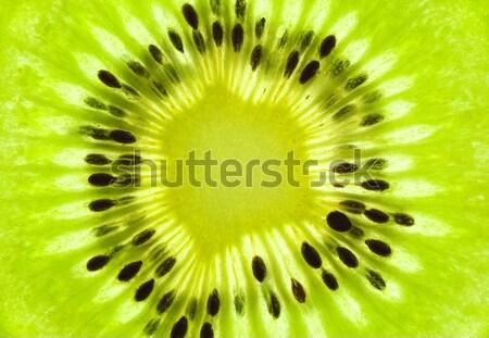Fresh Kiwi background / SuperMacro / back lit Stock photo © Taiga