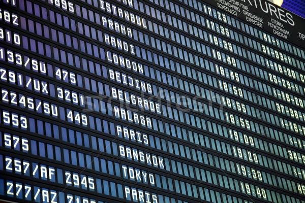ボード モスクワ 空港 ビジネス コンピュータ フレーム ストックフォト © Taiga