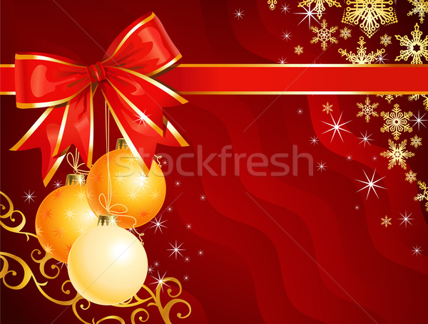 Christmas decoration with ribbon / holiday background / vector Stock photo © Taiga