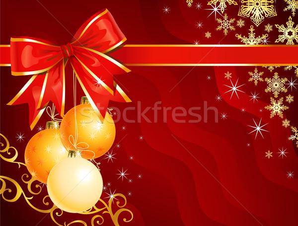 Karácsony dekoráció szalag ünnep háttér vektor Stock fotó © Taiga